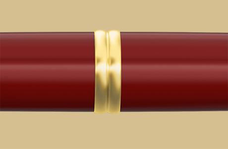 Bague stylo fintion dorée