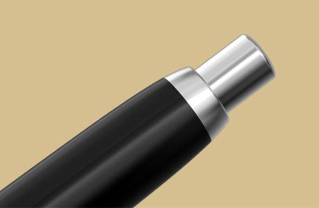 Bouton poussoir stylo fintion rhodiée