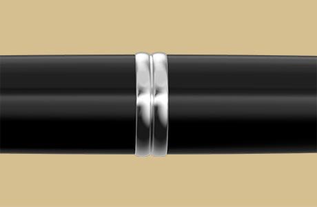 Bague stylo fintion rhodiée