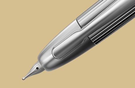 Plume stylo finition stripe