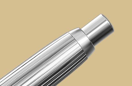 Bouton poussoir stylo fintion stripe