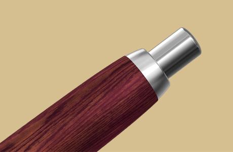 Bouton poussoir stylo fintion wooden