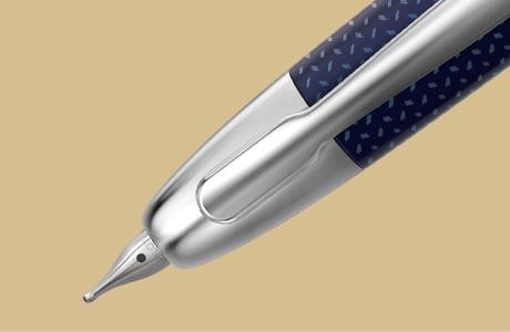 Plume stylo finition graphite