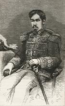 Litographie de l'Empeur Meiji