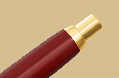 Bouton poussoir stylo fintion dorée