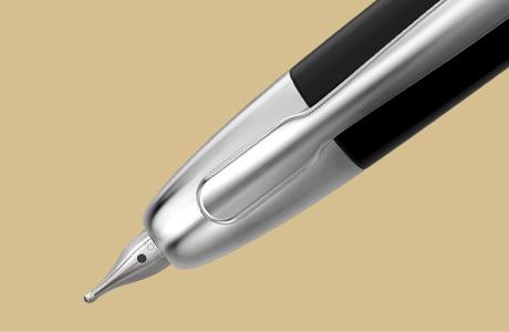 Plume stylo finition rhodiée